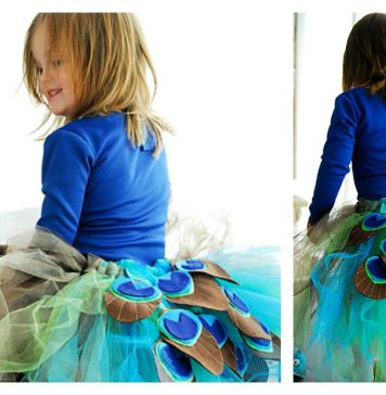 Peacock Costume Tutu Free Sewing Pattern