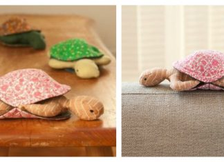 Peekaboo Plush Turtle Free Sewing Pattern and Template