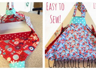 Simple Casserole Carrier Free Sewing Pattern