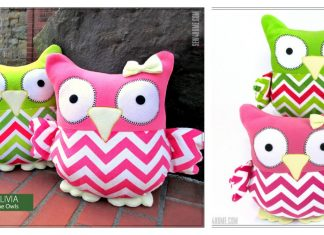 The SleepyTime Stuffed Owls Free Sewing Pattern