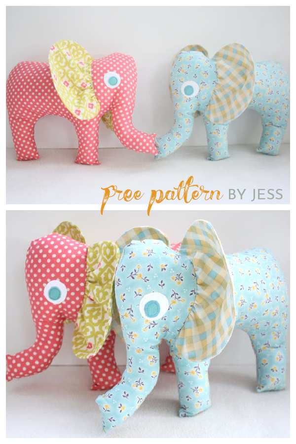 Adorable Elephant Softie Free Sewing Pattern