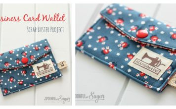 Business Card Wallet Free Sewing Pattern
