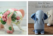 Elephant Plush Toy Free Sewing Pattern