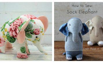 Elephant Plush Toy Free Sewing Pattern