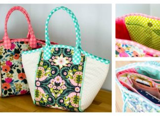 Fabric Basket Style Tote Bag Free Sewing Pattern