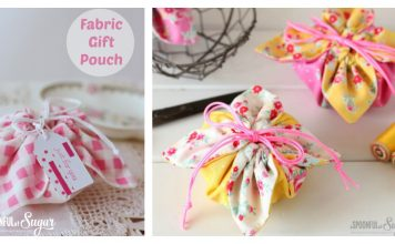 Fabric Gift Pouch Free Sewing Pattern