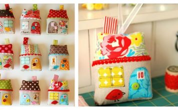 Fabric House Ornament Free Sewing Pattern