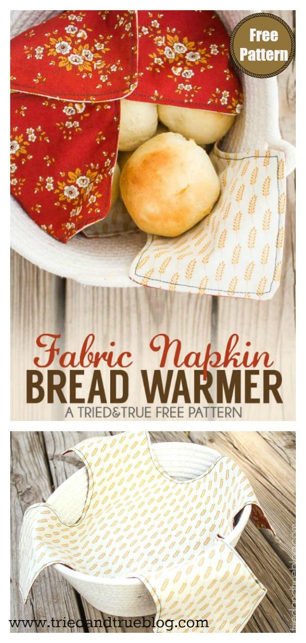 Fabric Napkin Bread Warmer Free Sewing Pattern