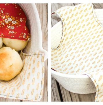 Fabric Napkin Bread Warmer Free Sewing Pattern