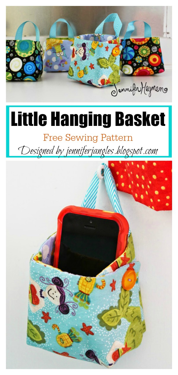 Little Hanging Basket Free Sewing Pattern