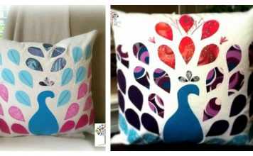 Patchwork Peacock Pillow Free Sewing Pattern