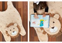 Plush Animal Lion Mat Free Sewing Pattern