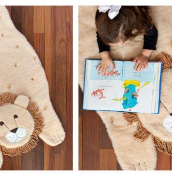 Plush Animal Lion Mat Free Sewing Pattern