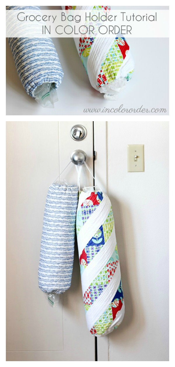 Quilted Grocery Bag Holder Free Sewing Pattern