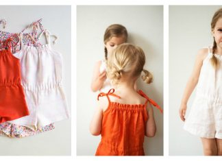 Summer Girl Romper Free Sewing Pattern