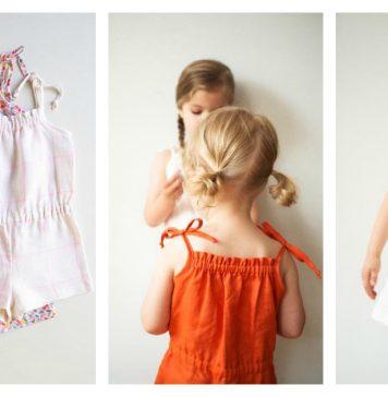 Summer Girl Romper Free Sewing Pattern