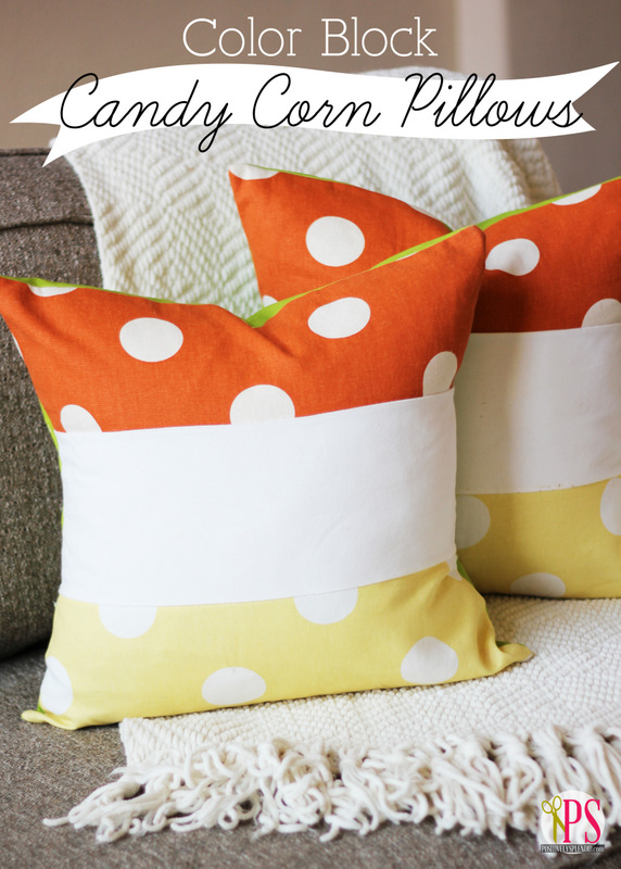 Color Block Candy Corn Pillows Pillow