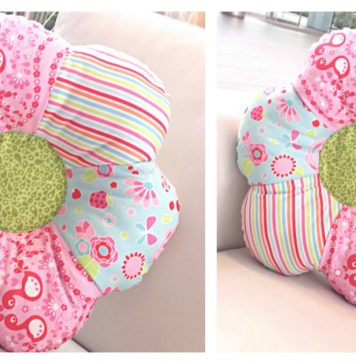 Flower Shaped Pillow Free Sewing Pattern