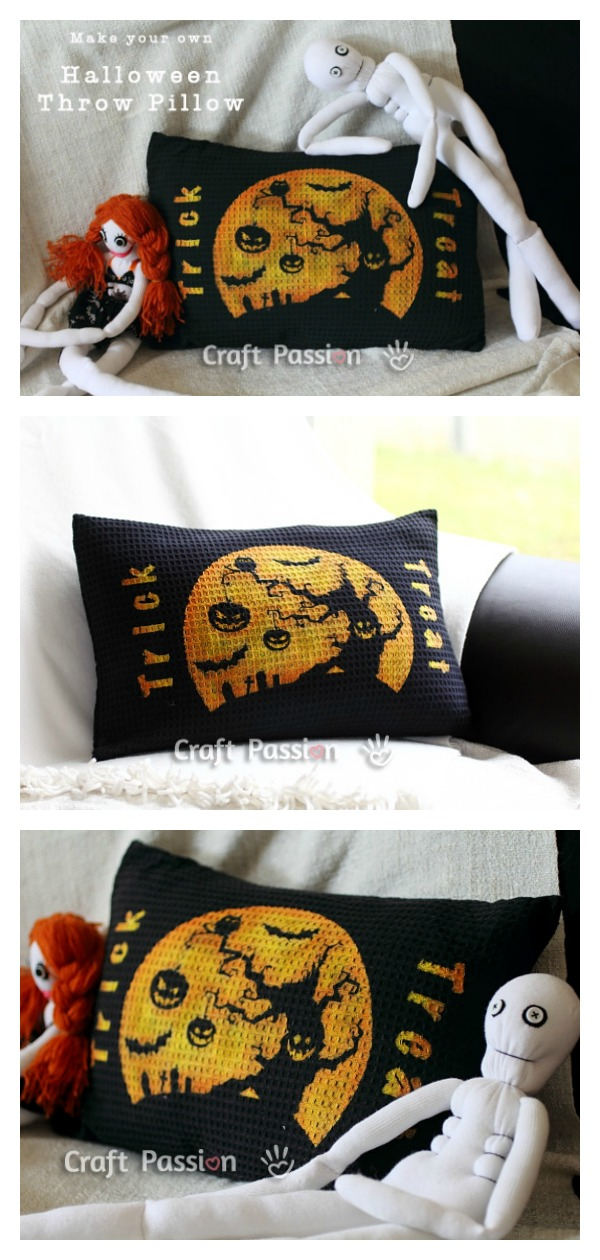Halloween Throw Pillow Free Sewing Pattern