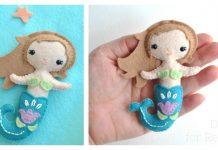 Little Felt Mermaid Free Sewing Pattern