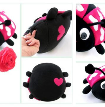 Sweet Love Ladybug Free Sewing Pattern