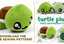 Turtle Plush Free Sewing Pattern