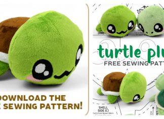 Turtle Plush Free Sewing Pattern