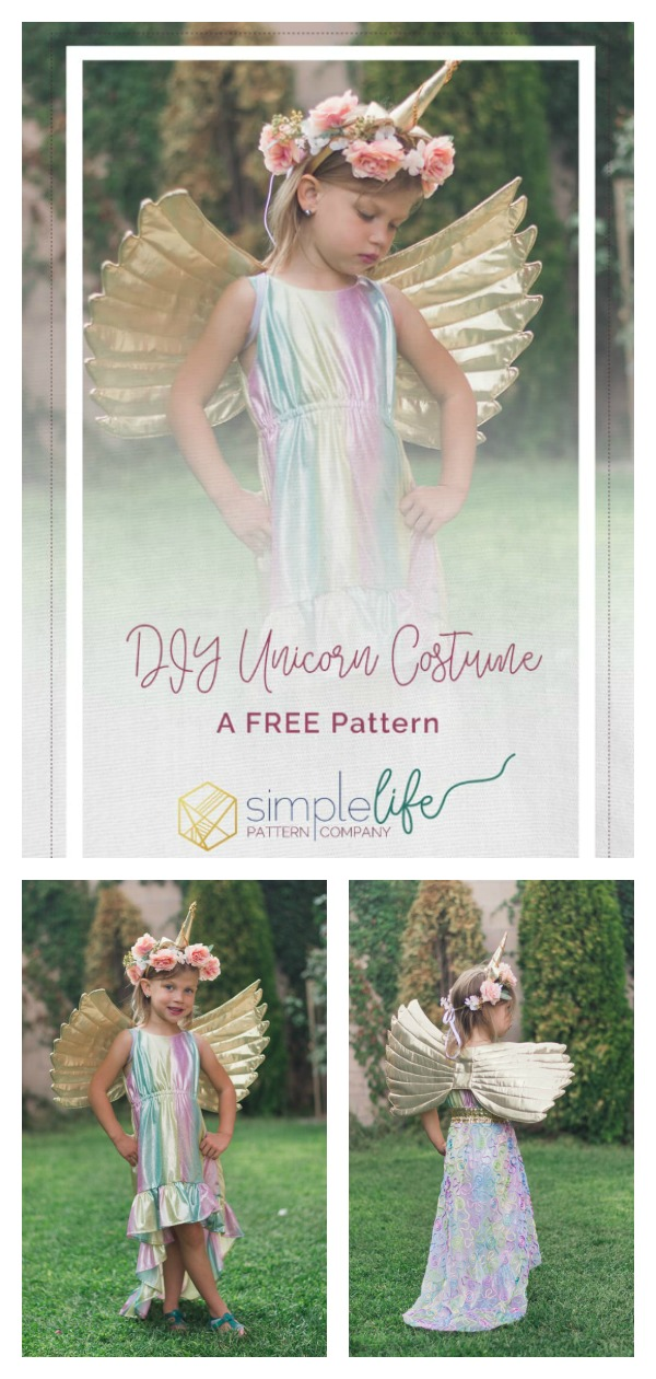 DIY Unicorn Costume Free Sewing Pattern