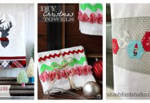 Christmas Dish Towels Free Sewing Pattern
