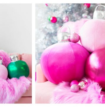 DIY Christmas Ornament Pillows Free Sewing Pattern
