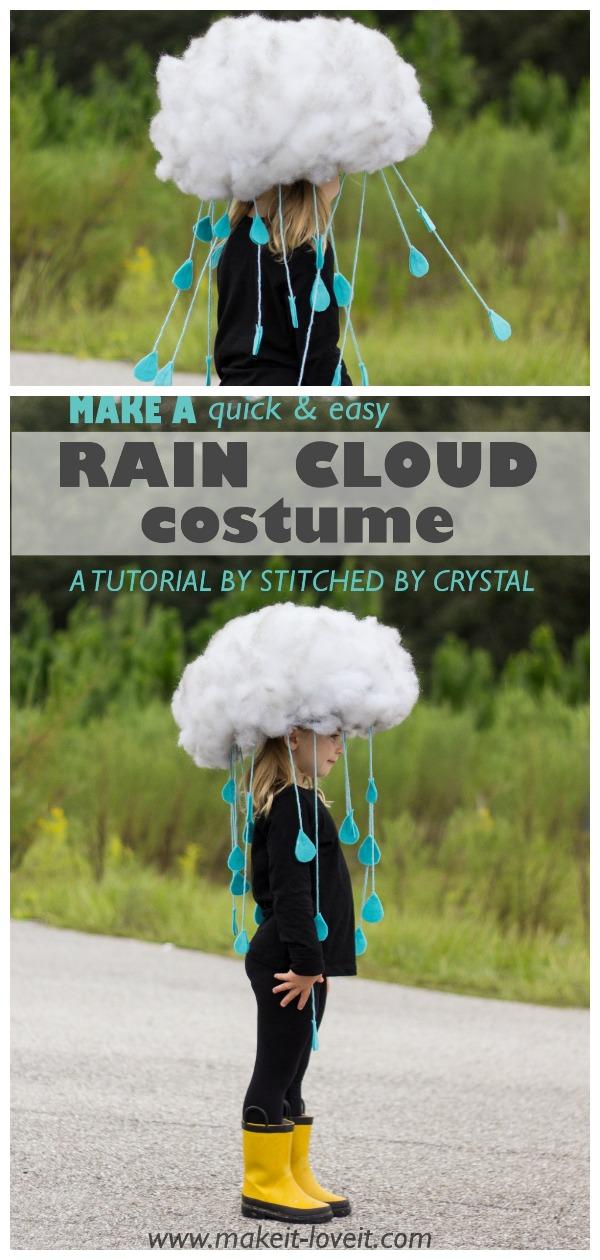 DIY Rain Cloud Halloween Costume Tutorial