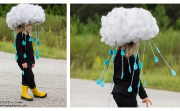 DIY Rain Cloud Halloween Costume Tutorial