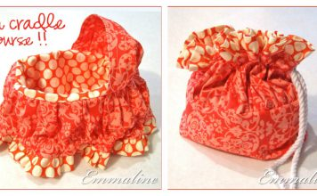 Fabric Cradle Purse Free Sewing Pattern