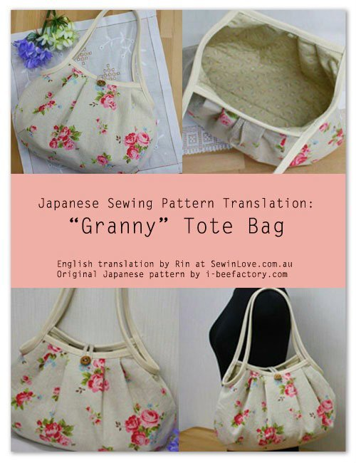 Granny Tote Bag Free Sewing Pattern