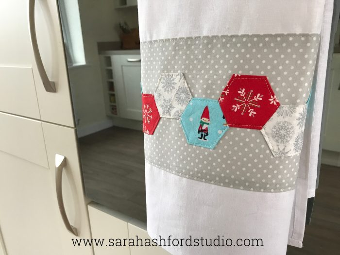 Christmas Tea Towel Free Sewing Pattern
