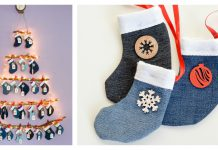 Mini Stocking Advent Calendar Free Sewing Pattern
