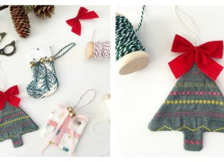 Quilty Holiday Christmas Ornaments Free Sewing Pattern and Video Tutorial