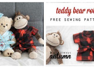 Stuffed Animal and Teddy Bear Robe Free Sewing Pattern