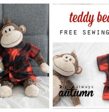 Stuffed Animal and Teddy Bear Robe Free Sewing Pattern
