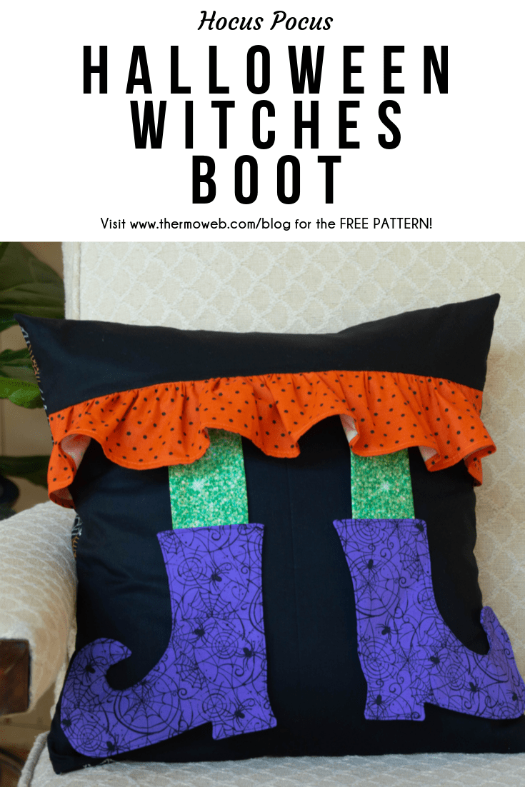 Witches Boot Pillow Free Sewing Pattern