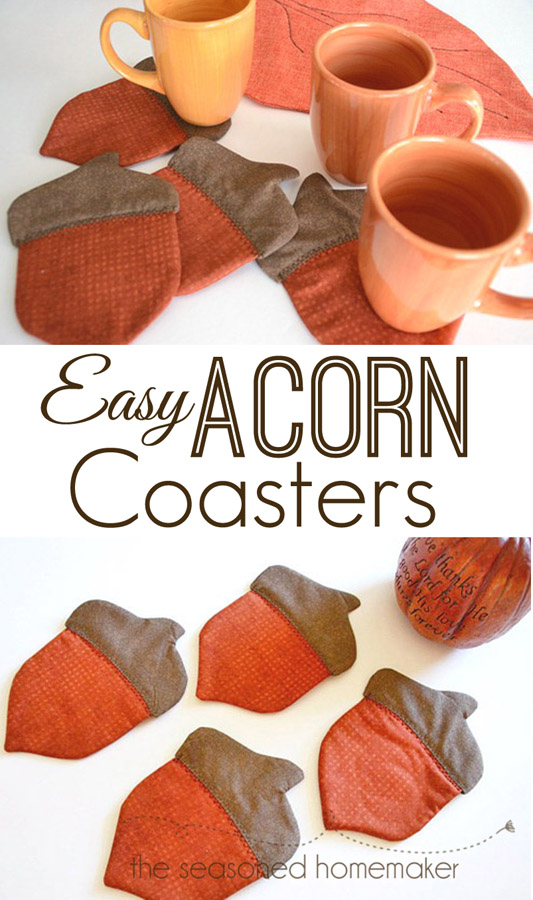 Adorable Acorn Coasters Free Sewing Pattern