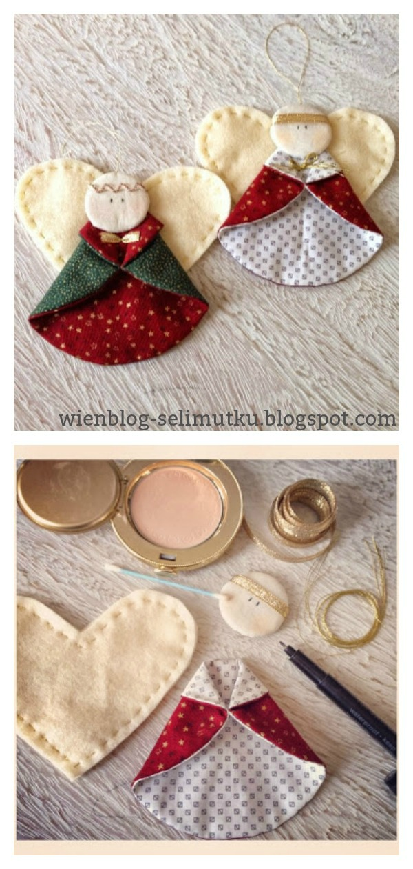 Christmas Angel Ornaments Free Sewing Pattern