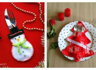 Christmas Cutlery Holder Free Sewing Pattern