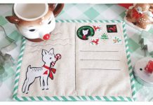 Christmas Postcard Mug Rugs Free Sewing Pattern