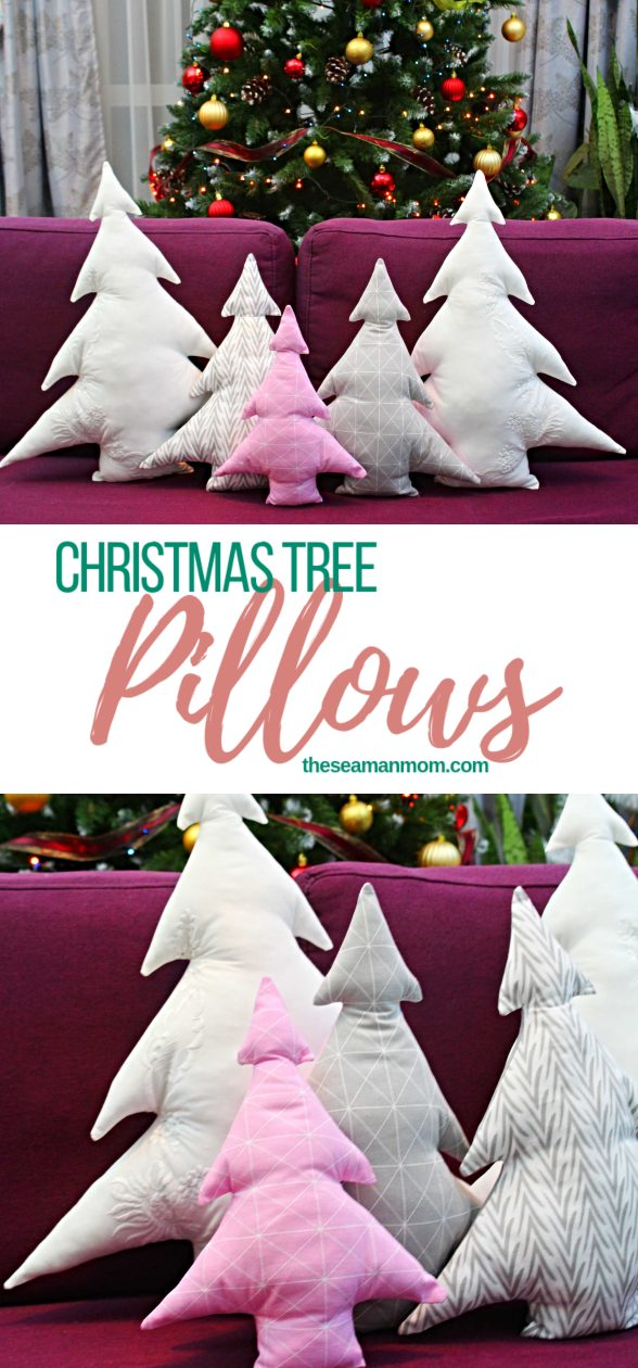 Christmas Tree Pillows Free Sewing Pattern