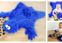 Cookie Monster Rug Free Sewing Pattern