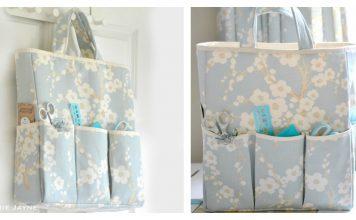 Crafts Organizer Bag Free Sewing Pattern