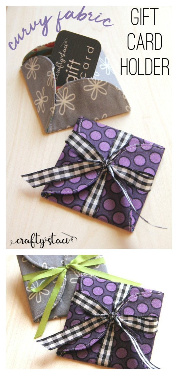 Curvy Fabric Gift Card Holder Free Sewing Pattern