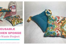 DIY Zero-waste Kitchen Sponge Free Sewing Pattern