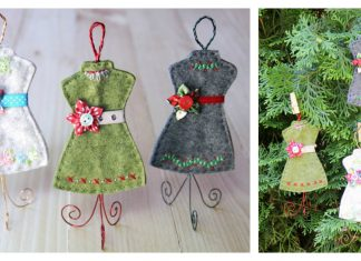Dress Form Ornament Free Sewing Pattern